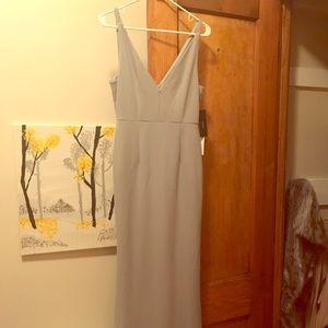 Lulus Melora Slate Blue Sleeveless Maxi Dress